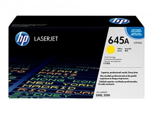 Genuine HP C9732A No.645A Yellow Toner Cartridge - 12,000 pages