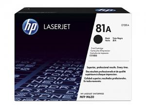 Genuine HP CF281A No.81A Black Toner - 10,500 pages