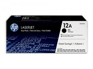 Genuine HP Q2612ATWIN No.12A Toner Cartridge - 2,000 pages - Dual Pack