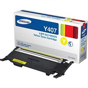 Genuine Samsung CLTY407S Yellow Toner Cartridge to suit CLP325 / CLX3185 / CLX3180 - 1,000 pages