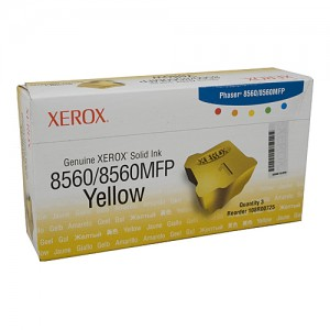 Genuine Xerox Phaser 8560 / 8560MFP Yellow Ink Sticks - 3 Pack - 3,400 pages