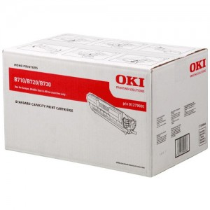 Genuine Oki B720 Black Toner Cartridge - 15,000 pages