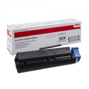 Genuine Oki B432 EHY Black Toner Cartridge - 12,000 pages
