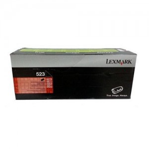 Genuine Lexmark 523 Black Toner - 6,000 pages