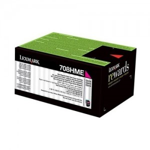 Genuine Lexmark 708M Magenta Toner - 1,000 pages
