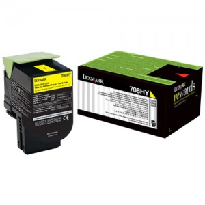 Genuine Lexmark 708HY HY Yellow Toner - 3,000 pages
