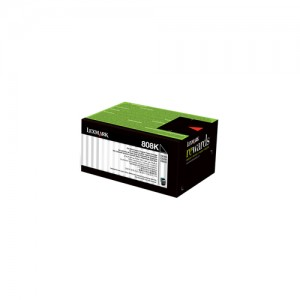 Genuine Lexmark 808K Black Toner - 1,000 pages