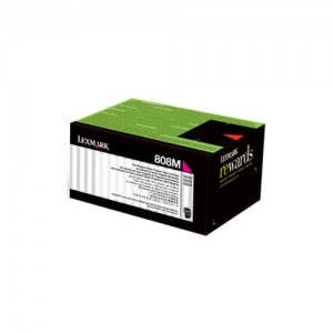 Genuine Lexmark 808M Magenta Toner - 1,000 pages