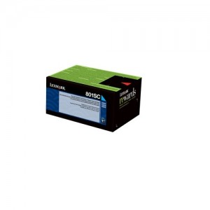 Genuine Lexmark 808SC Std Cyan Toner - 2,000 pages