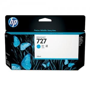 Genuine HP #727 130ml Cyan Ink -