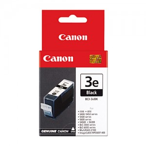 Genuine Canon BCI-3eBK Black Ink tank - 500 pages