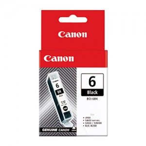 Genuine Canon BCI-6BK Black Ink Tank - 280 pages