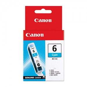 Genuine Canon BCI-6C Cyan Ink Tank - 100 pages
