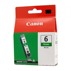 Genuine Canon BCI-6G Green Ink Tank - 100 pages