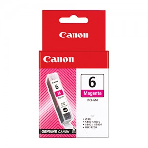 Genuine Canon BCI-6M Magenta Ink Tank - 100 pages