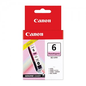 Genuine Canon BCI-6PM Photo Magenta Ink Tank - 100 pages
