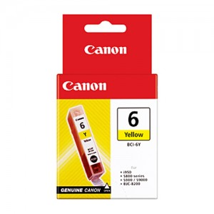 Genuine Canon BCI-6Y Yellow Ink Tank - 100 pages
