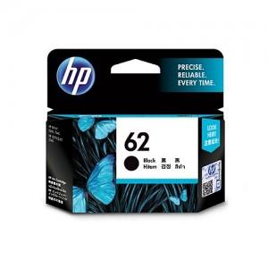 Genuine HP #62 Black Ink Cartridge - 200 Pages