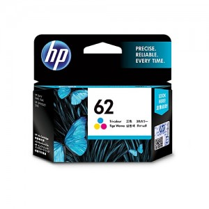 Genuine HP #62 Tri Colour Ink Cartridge - 165 pages