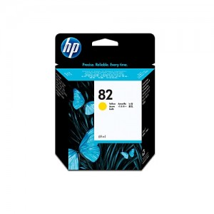 Genuine HP #82 Yellow Ink Cartridge - 3,200 pages