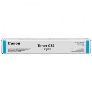 Genuine Canon CART034 Cyan Toner Cartridge - 7,300 pages