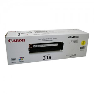 Genuine Canon CART318 Yellow Toner Cartridge - 2,400 pages