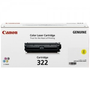 Genuine Canon CART322 Yellow Toner Cartridge - 7,500 pages