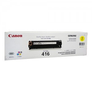 Genuine Canon CART416 Yellow Toner Cartridge - 1,500 pages