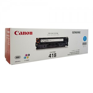 Genuine Canon CART418 Cyan Toner Cartridge - 2,900 pages