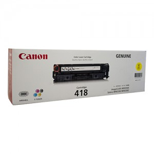 Genuine Canon CART418 Yellow Toner Cartridge - 2,900 pages