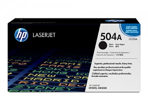 Genuine HP CE250A No.504A Black Toner Cartridge - 5,000 pages