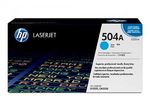 Genuine HP CE251A No.504A Cyan Toner Cartridge - 7,000 pages