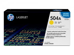 Genuine HP CE252A No.504A Yellow Toner Cartridge - 7,000 pages