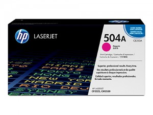 Genuine HP CE253A No.504A Magenta Toner Cartridge - 7,000 pages