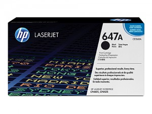 Genuine HP CE260A No.647A Black Toner Cartridge - 8,500 pages