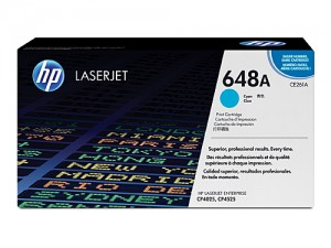 Genuine HP CE261A No.648A Cyan Toner Cartridge - 11,000 pages