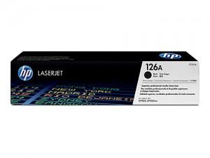 Genuine HP CE310A No.126A Black Toner Cartridge - 1,200 pages