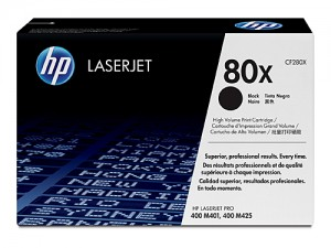 Genuine HP CF280X No.80X Black Toner Cartridge - 6,900 pages