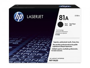 Genuine HP CF281A No.81A Black Toner - 10,500 pages