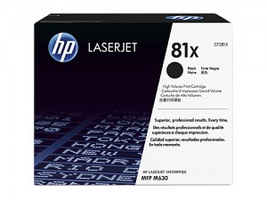 Genuine HP CF281X No.81X Black Toner - 25,000 pages