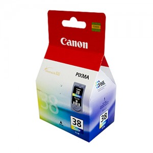 Genuine Canon CL-38 FINE Colour Ink Cartridge - 207 pages
