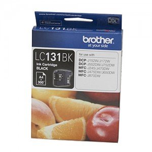 Genuine Brother LC-131 Black Ink Cartridge - up to 300 pages