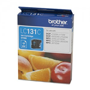 Genuine Brother LC-131 Cyan Ink Cartridge - up to 300 pages