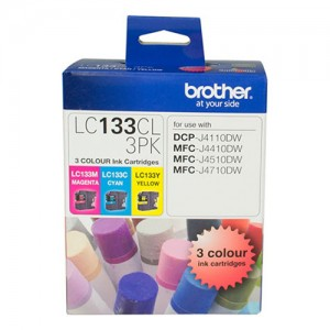 Genuine Brother LC-133 CMY Colour Pack - up to 600 pages per colour