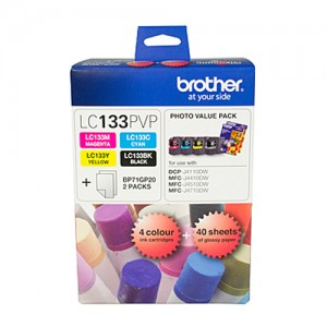 Genuine Brother LC-133 Photo Value Pack - up to 600 pages per colour