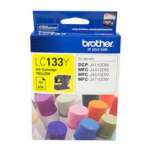 Genuine Brother LC-133 Yellow Ink Cartridge - up to 600 pages