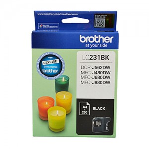 Genuine Brother LC-231 Black Ink Cartridge - Up to 260 pages