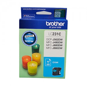 Genuine Brother LC-231 Cyan Ink Cartridge - Up to 260 pages