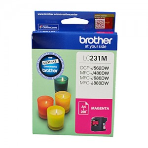 Genuine Brother LC-231 Magenta Ink Cartridge - Up to 260 pages