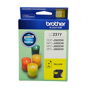 Genuine Brother LC-231 Yellow Ink Cartridge - Up to 260 pages